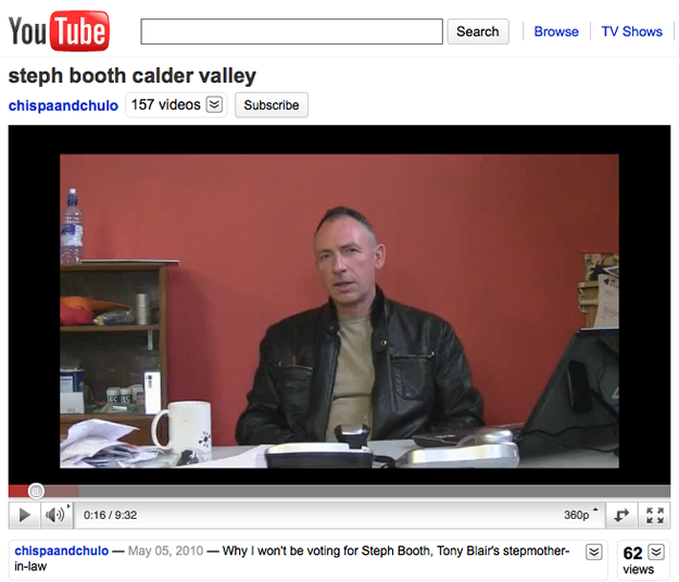 Hebden Bridge's Jason Elliott's 10 minute Youtube rant about the Calder Valley Labour Candidate